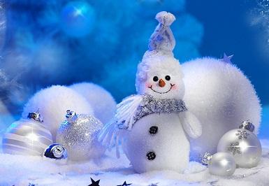Hình nền noel - Người tuyết siêu dễ thương