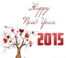 Hình nền năm mới - Cây tình yêu tuyệt đẹp