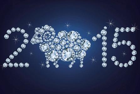 Hình nền năm mới lấp lánh kim cương