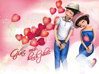 Hình nền valentine – Giấc mơ hạnh phúc