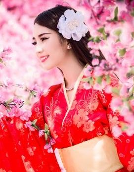 Hình nền girl xinh rực rỡ giữa ngàn hoa
