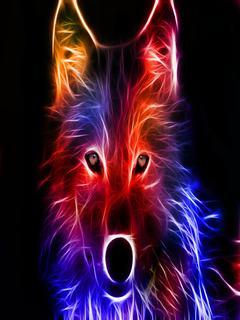 Hình nền 3D - Chó sói cực đẹp