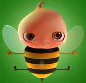 Hình nền 3d - Ong vàng cực đáng yêu