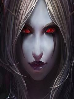 Hình nền kinh dị - Mắt đỏ như máu
