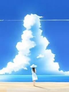 Hình nền mùa hè - Mây trắng kì ảo