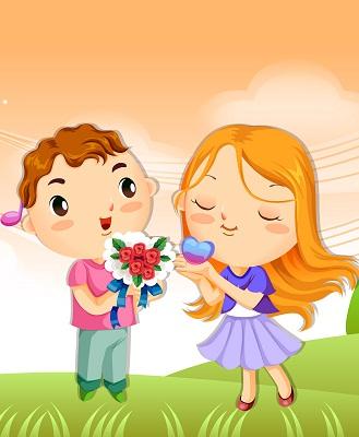 Hình nền tình yêu - Hoa và trái tim