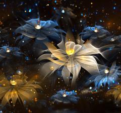 Hình nền 3D - Sắc hoa đẹp lung linh