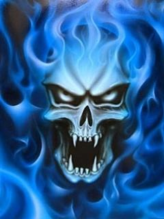 Hết hồn với hình nền kinh dị – Đầu lâu hung tợn