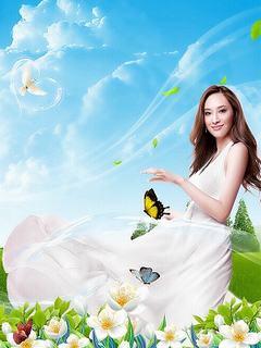 Hình nền girl xinh như thiên thần mùa hè