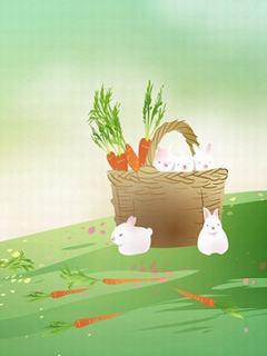 Hình nền hoạt hình tuyệt đẹp - Gia đình nhà thỏ