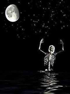 Hình nền kinh dị – Khung xương nhảy múa cực dị