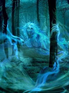 Hình nền kinh dị – Ma nữ trong rừng