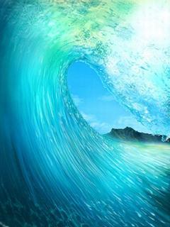 Hình nền mùa hè - Sóng biển cuộn trào