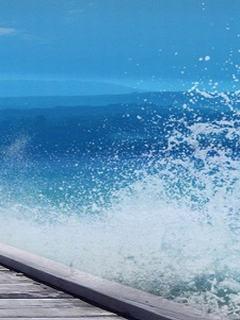 Hình nền mùa hè - Sóng biển trắng xóa cực mát mắt