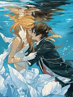 Hình nền tình yêu - Nụ hôn dưới nước