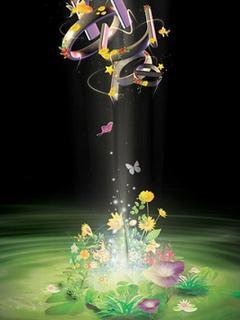 Mê mẩn hình nền 3D – Hoa đẹp kì diệu