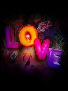 Tải hình nền 3D - Chữ Love cực đẹp