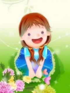 Tan chảy với hình nền hoạt hình – Bé gái cực yêu