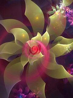 Hình nền 3D – Bông hoa đẹp hút mắt