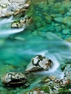 Hình nền 3D - Dòng sông xanh như ngọc