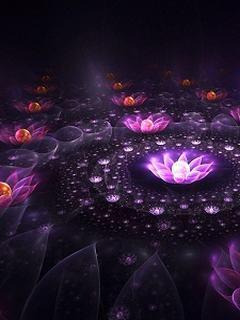 Hình nền 3D - Sắc hoa tím lung linh