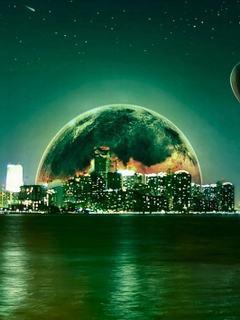 Hình nền 3D - Trái đất xanh cực đẹp