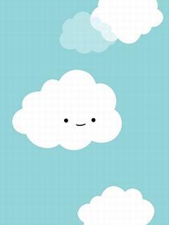 Hình nền mùa hè - Mây trắng siêu ngộ nghĩnh