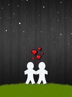 Hình nền tình yêu - Đi dạo ngắm sao