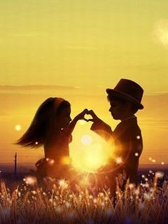 Hình nền tình yêu - Hoàng hôn lung linh