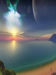 Tải hình nền 3D - Biển xanh đẹp như mơ