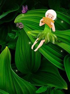 Tải hình nền 3D - Thiên thần lá