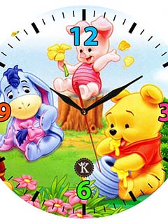Hình nền đồng hồ gấu pooh ngộ nghĩnh