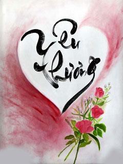 Hình nền thư pháp tình yêu cực đẹp và ý nghĩa