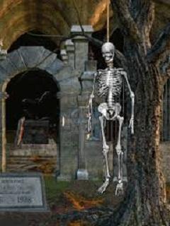 Hình nền Halloween kinh dị – Bộ xương di động