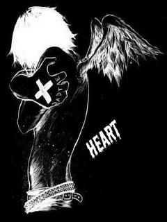 Hình nền sock cho điện thoại – Black Heart
