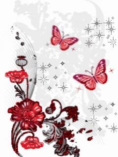 Hình nền di động đẹp lung linh - Hoa và bướm