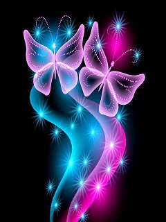 Hình nền điện thoại 3D - Đôi bướm xinh