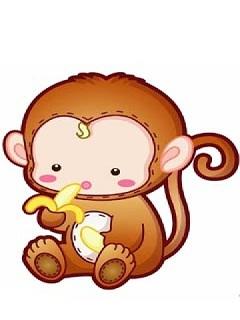 Hình nền dt dễ thương - Ngắm khỉ con ăn chuối