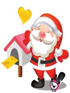 Hình ông già Noel vui nhộn cho mùa giáng sinh an lành