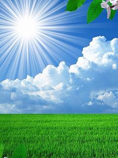 Hình nền 3D – Mặt trời sáng chói