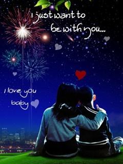 Hình nền tình yêu cực lãng mạn I love you Baby