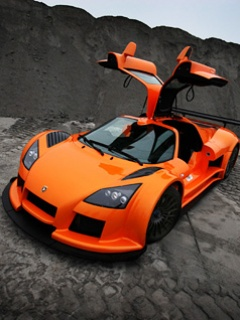 Hình nền trên điện thoại - Siêu xe cơn lốc màu da cam