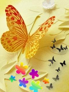 Tải hình nền đẹp cho di động – Con bướm xuân