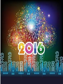 Hình nền năm mới – Pháo hoa rực rỡ chào đón giao thừa