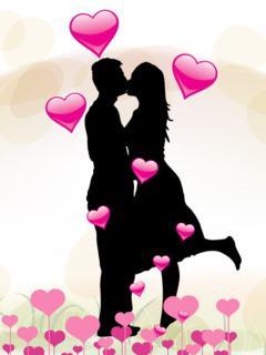 Tải hình nền valentine - Nụ hôn ngọt ngào