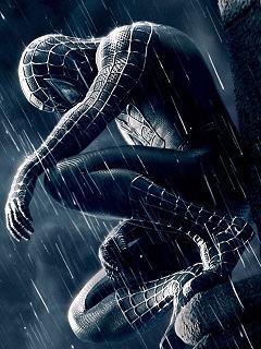Ảnh nền điện thoại 3D – Người nhện đen