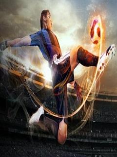 Hình ảnh bóng đá 3D nét như Sony