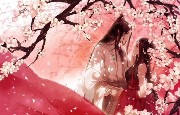 Hình ảnh hoạt hình đẹp về tình yêu lãng mạn