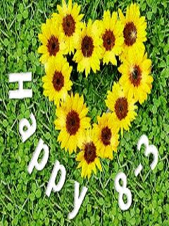 Hình nền 8/3 đẹp nhất – Hoa vàng trên cỏ xanh