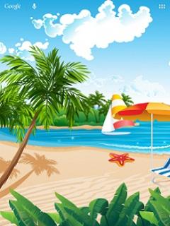Hình nền mùa hè – Biển xanh mát dịu